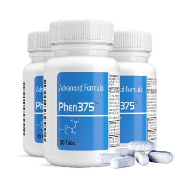 Geniune Fresh Phen375, Phen 375 , Best Weight Loss Tabs, FACTORY SEALED -30 Tabs