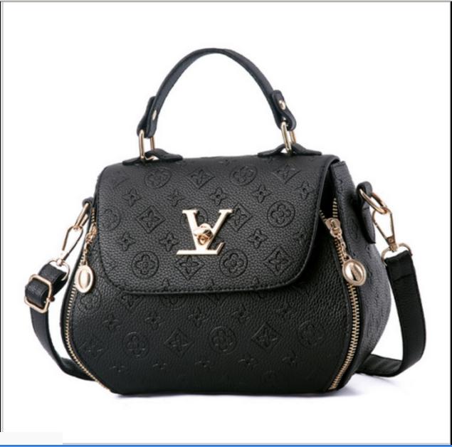 Damen Tasche Shopper Handtasche Schultertasche Umhängetasche Damentaschen Neu! Schwarz & Star