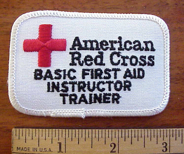 AMERICAN RED CROSS BASIC FIRST AID INSTRUCTOR TRAINER PATCH