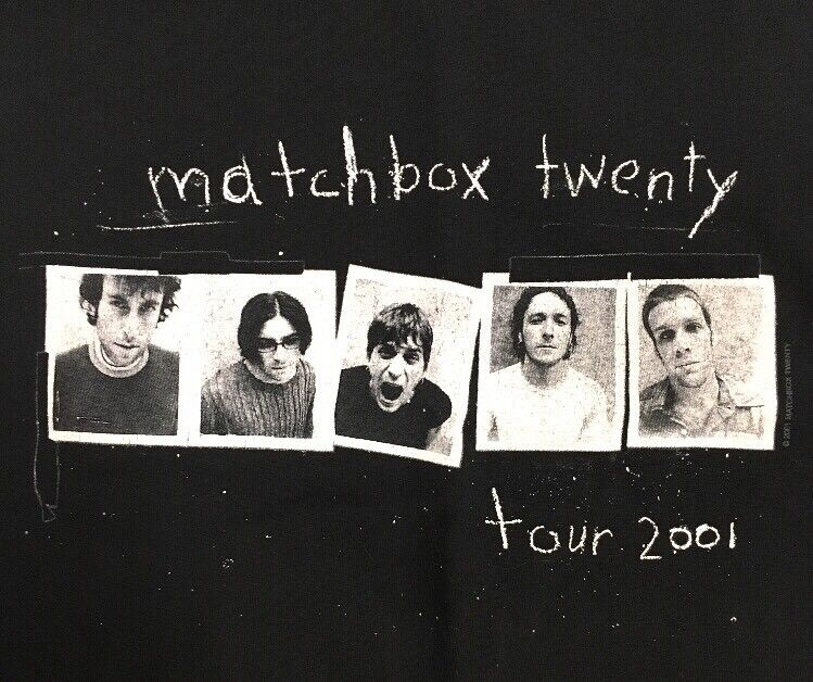 Matchbox twenty 2001 tour shirt sleeveless Large original