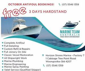 3 DAYS HARDSTAND FREE!  with October Antifoul bookings. Brisbane Region Preview