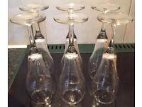 WINE CHAMPAGNE GLASSES CLASSIC SHAPE CLEAR 6 SET