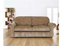 LUXURY Three Seater, Furniture Village Sofa. Beige / Mink Coloured Fabric. Excellent Condition!