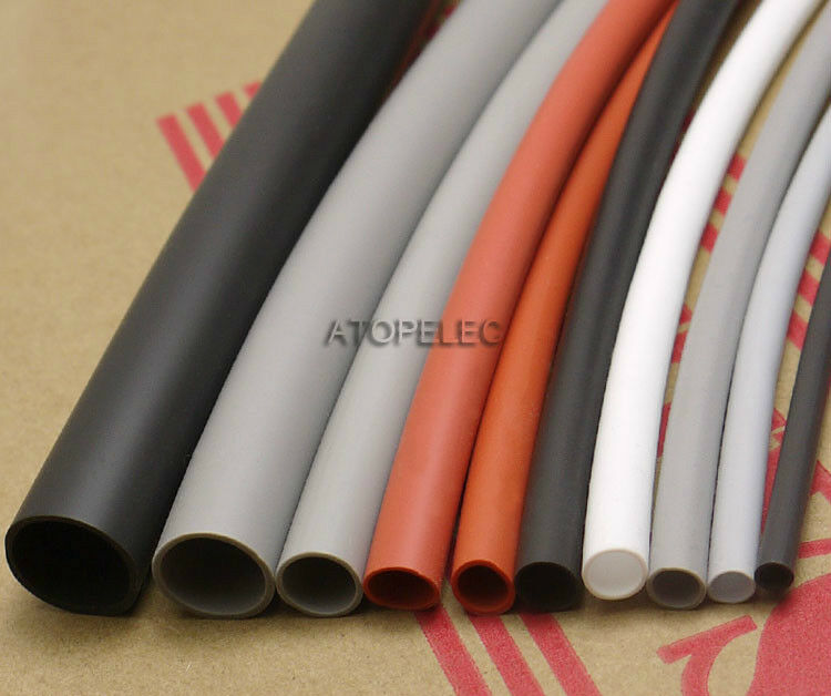 4mm Flexible Soft 1.7:1 Silicone Heat Shrink Tubing Wrap Wire 200℃ 2500V