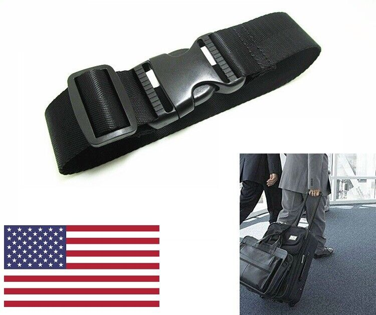 US Adjustable Travel Luggage Suitcase Safe Belt Strap Trolley Cases Baggage Tie