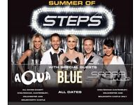 Steps/Aqua/Blue tickets 17th June for Doncaster keepmoat £60 for 2