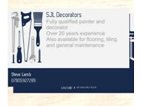 Fully qualified painter and decorator, 20 years experience