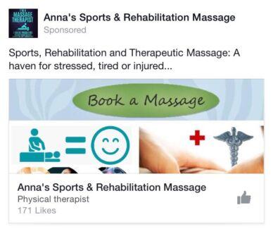 Anna's Sports and Rehab Massage - Medical; Rehab Massage