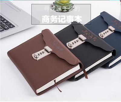 B6 Leather Journal Diary Writing Notebook With Password Combination Lock Gifts