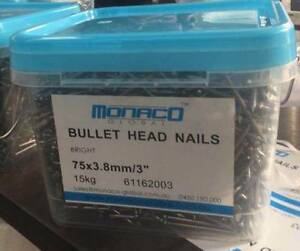 "Bullet Head Nails 3"" & 2"" Wetherill Park Fairfield Area Preview"