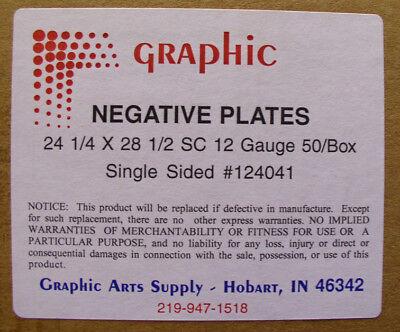 Offset Negative Plates 24 14 X 28 12 X .012 Box Of 50 Plates Agfa - New