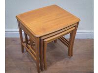 Vintage Retro Mid century Modern Nathan Teak Nest Of Tables