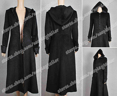 Twilight New Moon Costume Volturi Jane Black Long Coat Wool Halloween Suit - Jane Halloween Costume Twilight