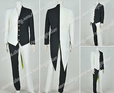 Black Cosplay Costume Black And White Two Face Suit Jacket Pants High - Two Face Cosplay Suit