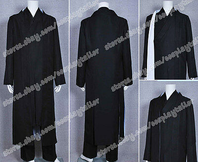 TRON Legacy Kevin Flynn Clu Black Uniform Kimono Cosplay Party Costume - Tron Costume Women