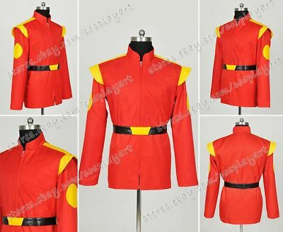 Futurama Captain Cosplay Zapp Brannigan Costume Red Short Coat Jacket Well Made - Zapp Brannigan Costume