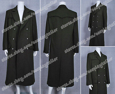Who Purchase Doctor Cosplay The 6th Doctor Costume Dark Green Long Wool Coat New](Purchase Costumes)