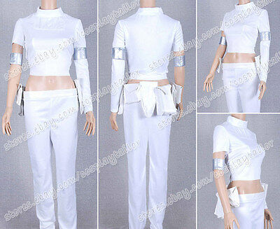Star Wars Movie Cosplay Padme Padme Amidala Costume White Uniform Outfit Suit