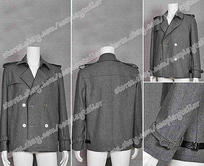 Twilight Cosplay Costume Edward Cullen Grey Jacket Pea Coat Halloween Party  - Halloween Edward Cullen
