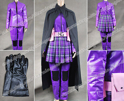 Kick-Ass Cosplay Hit Girl Purple Leather Costume Also For Daily Wear Tailor - Hit Girl Costume For Adults
