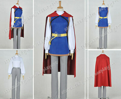 Snow White Cosplay The Prince Charming Costume Red Cape Uniform Full - Prince Charming Snow White Costume