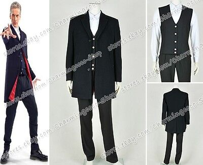 Doctor Buy The Who 12 Dr. dunkel Peter Capaldi Cosplay Kostüm Ganzsatz