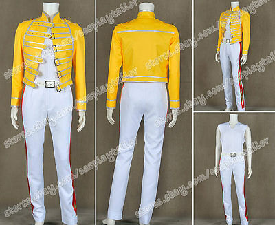 Queen Band Lead Vocals Cosplay Freddie Mercury Costume Suit In Wembley Stadium