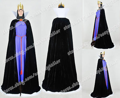 Snow White And The Seven Dwarfs The Evil Queen Cosplay Costume Purple Dress (Snow White And The Evil Queen Costume)
