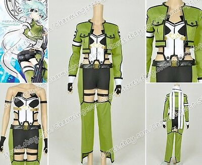 Halloween 2 Online (Sword Art Online Ⅱ 2 Cosplay Shino Asada Costume Halloween Outfit Uniform)