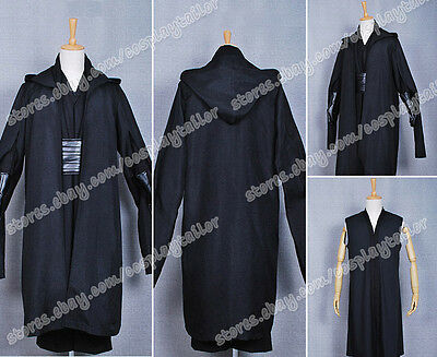 Star Wars Cosplay Black Uniform Jedi Robe High Quality Costume Clothing Full Set](High Quality Star Wars Costumes)