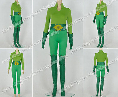 Batman And Robin Poison Ivy Cosplay Costume Green Uniform Outfit High Quality - Bat Man And Robin Costumes