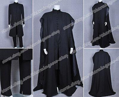 Severus Snape Halloween Costume (Harry Potter Deathly Hallows Severus Snape Black Cape Halloween Cosplay)