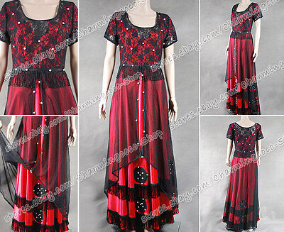 Titanic Cosplay Rose Costume Red Dress Jump Suit Gown  Silk Halloween Clothing