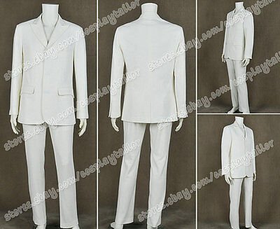 The Great Gatsby 2013 Cosplay Jay Gatsby Costume White Suit Uniform High Quality