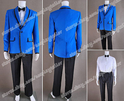 PSY Gangnam Style Cosplay Blue Blazer Suit High Quality Costume Daily Wear - Psy Costume