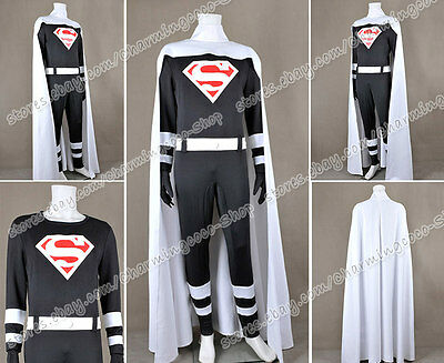 Superman Cosplay Clark Kent Costume Jumpsuit White Cape High Quality Halloween