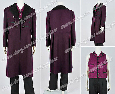 Who Is Doctor Cosplay The 11th Dr Costume Purple Trench Coat Outwear Halloween - 11th Doctor Halloween Costume