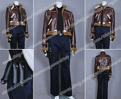 Resident Evil 4 Cosplay Costume Leon Kennedy Jacket Artificial Leather Halloween - Leon Kennedy Halloween
