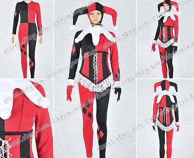 Batman Cosplay Harley Quinn Costume Female Clown Uniform Great For Halloween New](Great Female Costumes)