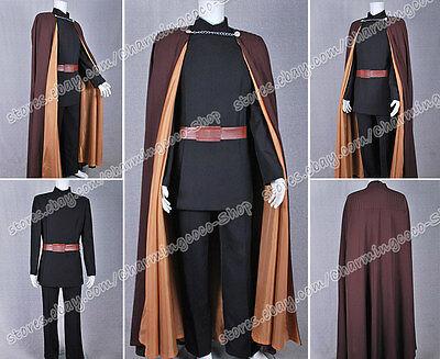 Star Wars Attack of the Clones Count Dooku Costume Brown Cape Halloween Wear New (Count Dooku Halloween Costume)
