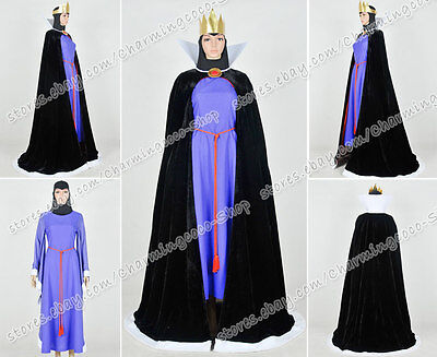 Snow White And The Seven Dwarfs Cosplay Costume The Evil Queen Purple Full (Snow White And The Evil Queen Costume)