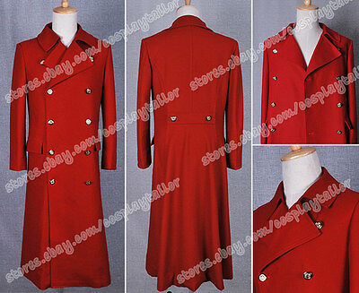Costume Purchase (Who Purchase Doctor The Fourth Doctor Costume Dr Red Trench Coat Jacket Cool)