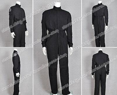 Star Wars Imperial Tie Fighter Pilot Black Flightsuit Jumpsuit Halloween Costume](Tie Fighter Halloween Costume)