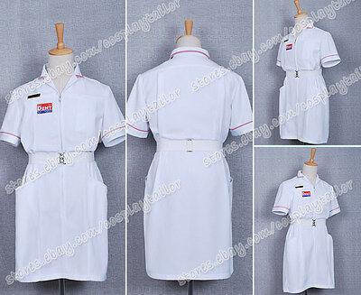 Batman Joker White Nurse Uniform Coat V2 Dress Cosplay Costume High Quality - Batman White Costume