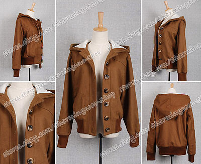 Twilight Cosplay Costume Bella Swan Brown Short Coat Hoodie Jacket Halloween New