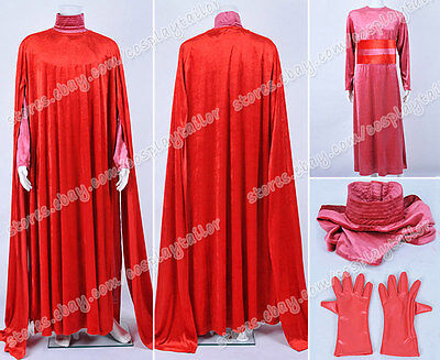 Star Wars Cosplay Red Royal Guard Silk Velvet Cloak Cape Lady Dress Costume New ](Star Wars Royal Guard Costume)