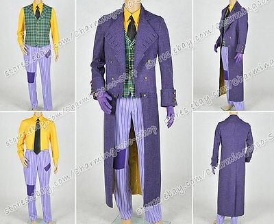 Batman: Arkham Origins Blackgate Cosplay The Joker Costume New Ver Full Set Cool - Cool Batman Costumes