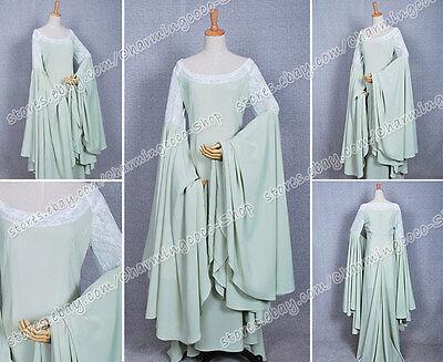The Lord of the Rings Arwen Grün Kleid Cosplay Kostüm Hoch Qualität Elegant Neu (Arwen Kleid Erwachsene Kostüme)