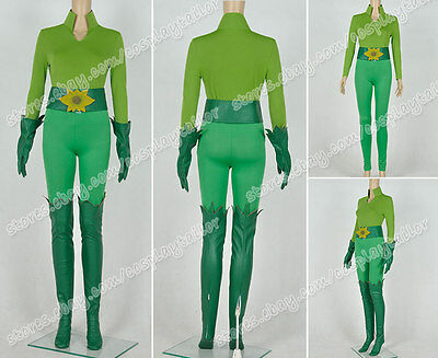 Batman And Robin Poison Ivy Cosplay Costume Green Uniform Suit Outfit Whole Set (Poison Ivy And Batman Costume)