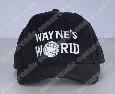 Wayne's World Embroidered Logo Baseball Cap Wayne Campbell Cosplay Hat Headgear